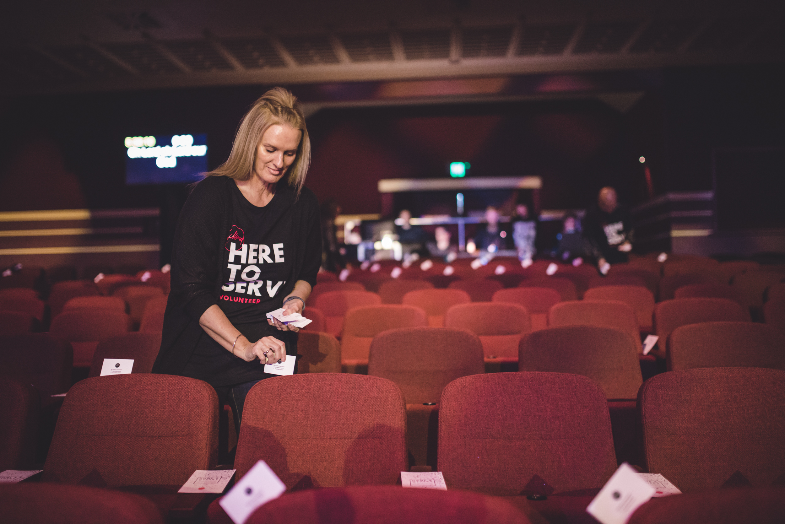 volunteers serving at Hillsong Perth